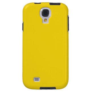 Cajas amarillas limón sólidas de la galaxia S4 Funda Para Galaxy S4