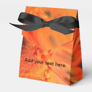 Cajas anaranjadas del favor de la margarita del cajas para regalos