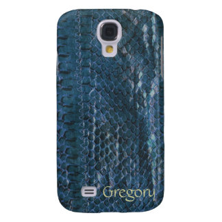 Cajas azules de la galaxia S4 de Snakeskin Samsung Funda Para Galaxy S4