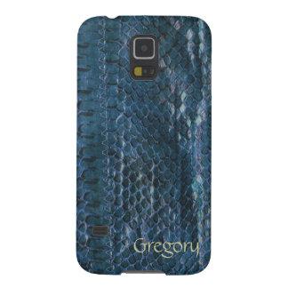 Cajas azules de la galaxia S5 de Snakeskin Samsung Carcasa Para Galaxy S5