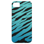 Cajas azules de la raya iPhone5/5S del tigre iPhone 5 Cárcasa