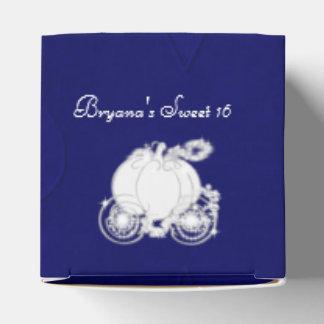 Cajas azules del favor de fiesta del carro de caja para regalo de boda