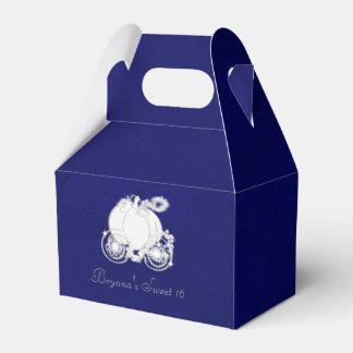 Cajas azules del favor de fiesta del carro de cajas para regalos de fiestas