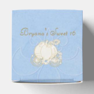 Cajas azules del favor de fiesta del carro del oro cajas para regalos de boda