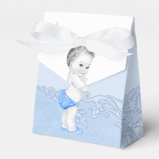 Cajas azules del favor del príncipe fiesta de bien paquete de regalo