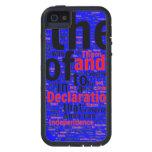 Cajas azules del iPhone de la declaración iPhone 5 Case-Mate Protectores