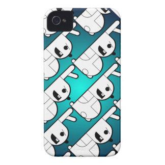 """Cajas azules del teléfono del conejito de """"B"""" iPhone 4 Case-Mate Funda"""