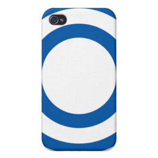 Cajas azules y blancas del teléfono del diseño de  iPhone 4 fundas