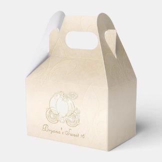 Cajas beige del favor de fiesta del carro del oro caja para regalos