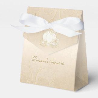 Cajas beige del favor de fiesta del carro del oro caja para regalos de fiestas