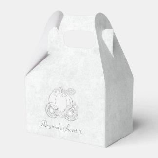Cajas blancas del favor de fiesta del carro de cajas para regalos de fiestas