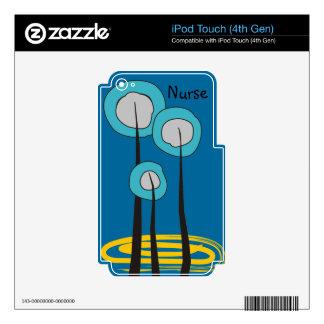 Cajas caprichosas del teléfono de la enfermera de calcomanía para iPod touch 4G