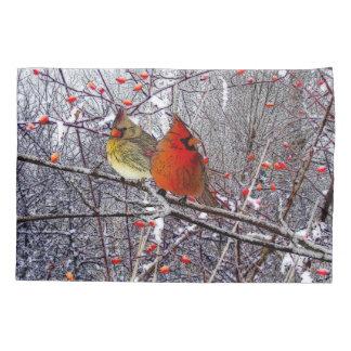 Cajas cardinales de la almohada del navidad funda de cojín