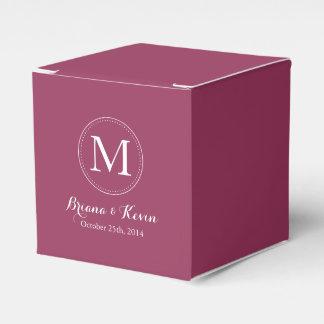 Cajas coloreadas Borgoña de encargo del favor del Caja Para Regalo De Boda