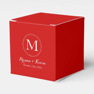 Cajas coloreadas rojo de encargo del favor del mon paquete de regalo para fiestas