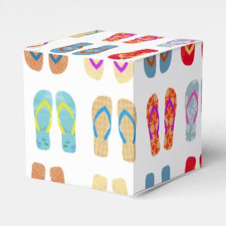 Cajas coloridas del favor de los flips-flopes del cajas para detalles de boda