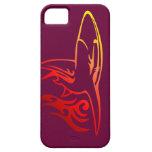 Cajas coloridas del iPhone del arte del tiburón iPhone 5 Coberturas