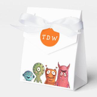 Cajas cones monograma del favor de la fiesta de caja para regalos de fiestas