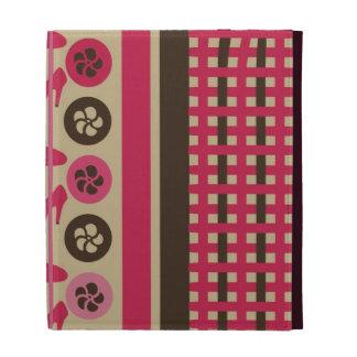 Cajas coquetas del folio del iPad de la frambuesa