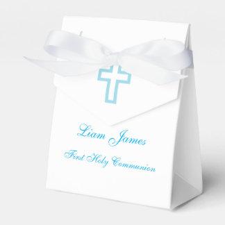 Cajas cruzadas azules personalizadas del favor de cajas para detalles de boda