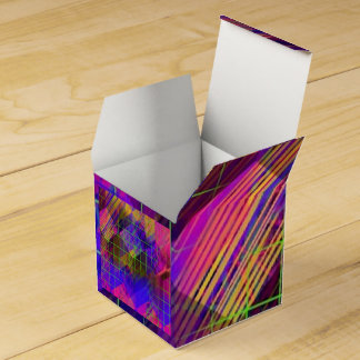 cajas cuadradas abstractas geométricas del favor caja para regalo de boda