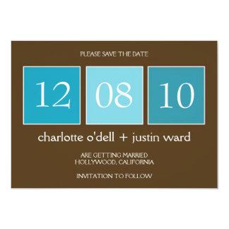 """cajas cuadradas; ahorre la fecha invitación 5"""" x 7"""""""