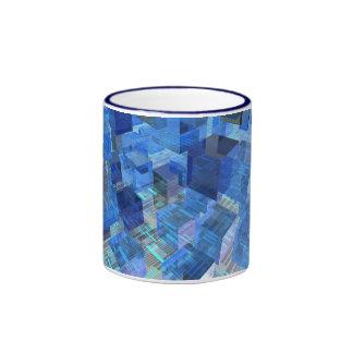 Cajas de azul taza de dos colores