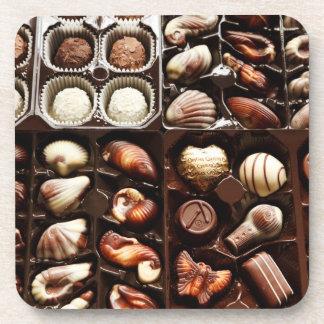 Cajas de chocolates de lujo posavaso