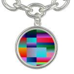 Cajas de color abstractas pulsera con dije