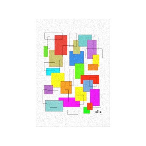 cajas de color lienzo envuelto para galerias