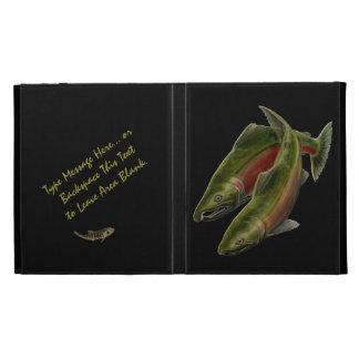 Cajas de color salmón pesqueras idas del iPad del