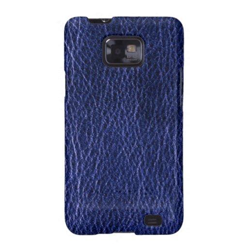 Cajas de cuero azules de la galaxia de Samsung de Funda Galaxy S2
