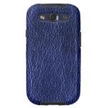 Cajas de cuero azules de la galaxia S3 de Samsung  Samsung Galaxy S3 Fundas