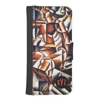 Cajas de encargo de la cartera del monograma del fundas billetera para teléfono
