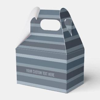 Cajas de encargo del favor del modelo de las rayas cajas para detalles de boda