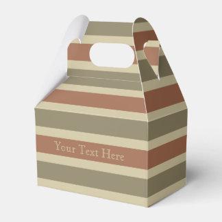 Cajas de encargo del favor del modelo de las rayas cajas para regalos de boda