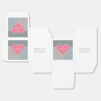 Cajas de encargo del favor del modelo del corazón cajas para regalos