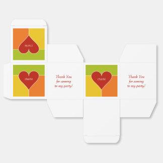 Cajas de encargo del favor del modelo del corazón cajas para regalos de boda