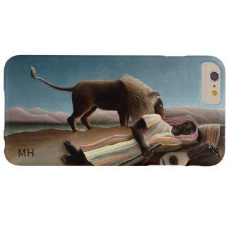 """Cajas de encargo del teléfono del monograma"""" del funda para iPhone 6 plus barely there"""