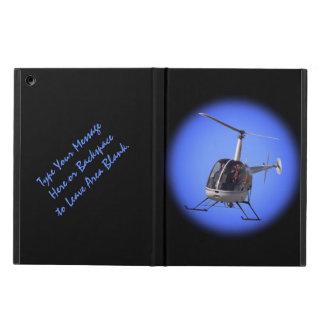 Cajas de encargo frescas del helicóptero del caso