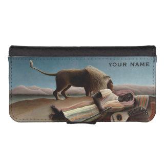 Cajas de encargo gitanas de la cartera el dormir funda billetera para teléfono