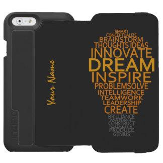 Cajas de encargo inspiradas de la cartera de la funda billetera para iPhone 6 watson