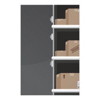 Cajas de envío de la banda transportadora  papeleria
