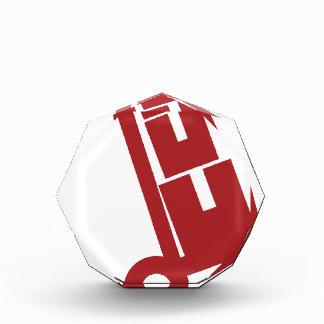 Cajas de envío rojas del carro del camión de mano