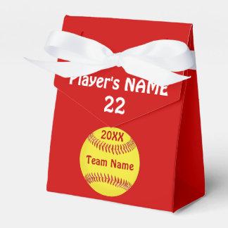 Cajas de Goodie del softball con sus colores, su Cajas Para Regalos De Fiestas