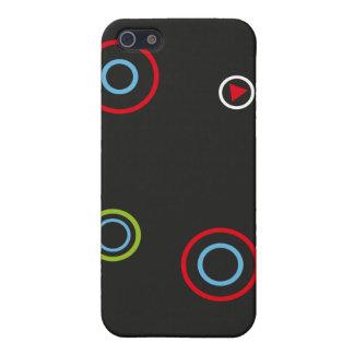 Cajas de la caja de la mota de los círculos para e iPhone 5 protector