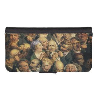 Cajas de la cartera de las expresiones de Daumier Funda Cartera Para Teléfono