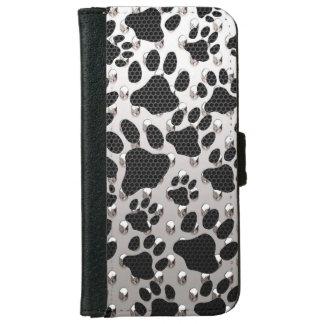Cajas de la cartera del estampado de animales carcasa de iPhone 6