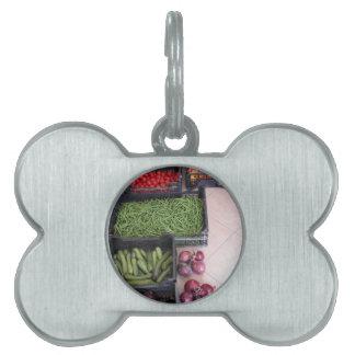 Cajas de la fruta y verdura placas mascota