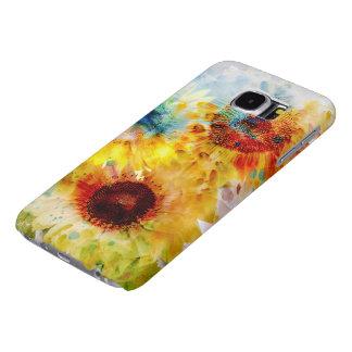 Cajas de la galaxia S6 de Samsung de los girasoles Fundas Samsung Galaxy S6